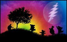 Love this Grateful Dead Artwork. Hippie Love, Hippie Art, Phil Lesh And Friends, Grateful Dead Bears, Super Cool Stuff, Dead And Company, Phish, Forever Grateful, Best Part Of Me