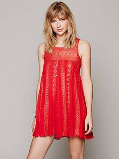 Free People! I think red and gold/Metallics look so cute and elegant together. Very cute, maybe with my fringe moccasins! Iyiyiy!