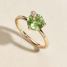Allow your uniqueness to shine through – with Peekaboo, our jewellery collection for the modern, self-confident woman. Confident Woman, 18k Rose Gold, The Fresh, Fine Jewelry, Jewellery, Peridot, Jewelry Collection, Heart Ring, Delicate