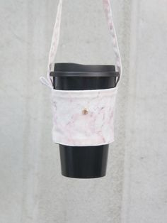 Pink marble green bag set customized for your English tag - shizhenshixian - Beverage Holders & Bags Drink Holder, Pink Marble, Cupping Set, Custom Bags, Green Bag, Travel Mugs, Beverages, Tableware, Handmade