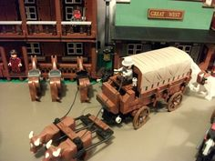 Old west Wagons: A LEGO® creation by Boise Bro : MOCpages.com