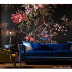 Imperial Blue Velvet Sofa | Luxurious Statement Sofa #luxurybedroom