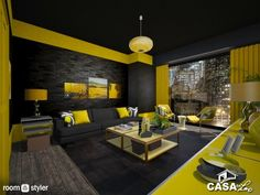 Black and Yellow (Living room)