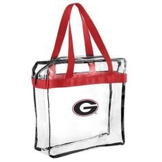NCAA Georgia Bulldogs Forever Collectibles Clear Hand Tote Bag