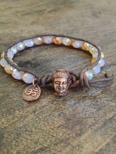 Buddha Single Wrap Leather Bracelet Om Boho Chic. $25.00, via Etsy.