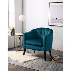 Gris Taupe, Tub Chair, Decoration, Accent Chairs, Furniture, Home Decor, Velvet Armchair, Blue Velvet, Home