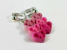 Clip su orecchini cuore orecchini cuore di SweetheartsandCrafts