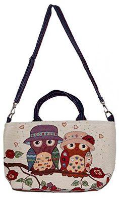 Owl Bohemian Tote Shoulder Hippie Hobo Boho Bucket Bag Pu…