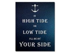 Nautical Print Nautical Quote Ocean  Nursery by NauticalDecorShop, $12.00