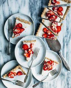 strawberry coconut tart (gluten-free + vegan) // brooklyn supper