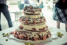 Our cake.... berries and cheesecream.... great!