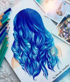 """Hannah Schäfer (@_colourdraw) • Fotos y vídeos de Instagram [   """"I love the color and also i love the way they make it curly... Which it makes it perfect😁"""" ] #<br/> # #Cartoon #Drawings,<br/> # #Art #Drawings,<br/> # #Prisma #Color #Drawings,<br/> # #Colorful #Hair,<br/> # #Hair #Art,<br/> # #Beautiful #Artwork,<br/> # #Drawing #Ideas,<br/> # #Artsy #Fartsy,<br/> # #Papan<br/>"""
