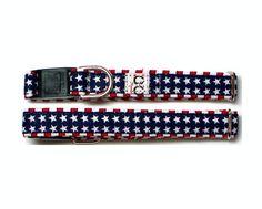 Cat Safety Collar - Patriotic Stars N Stripes Cat Collar