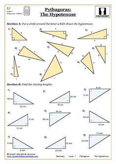 Pythagorean Theorem Worksheet  Mighty Math Powers