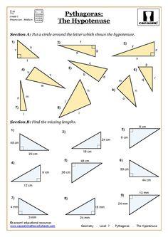 Pythagorean Theorem Worksheet  Mighty Math Powers