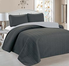 Home Sweet Home Chevron Design Reversible 3 PC Quilt Sets (Full/Queen, Gray/Sliver) Home Sweet Home Dreams Inc http://smile.amazon.com/dp/B014GESWK0/ref=cm_sw_r_pi_dp_wY8twb03VNZNC
