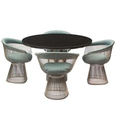 Dining Chairs By Warren Platner | From a unique collection of antique and modern armchairs at http://www.1stdibs.com/furniture/seating/armchairs/