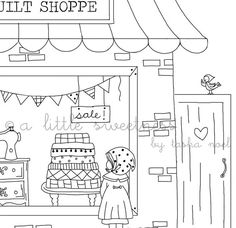 Window Shopping Embroidery PATTERN by alittlesweetness on Etsy