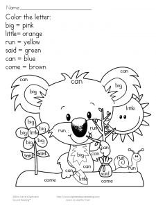 earth day coloring fun - Free Color Word Worksheets