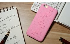 Pink iPhone 6 Puzzle Silicone Bumper Case at mobilephonecases.co.nz #MobilePhoneCases #CellPhoneCases #iPhoneCases #iPadCases #SamsungGalaxyCases #Pink #iPhone6