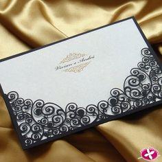 Convite de Casamento com corte a laser - Modelo Arabesco. www.rosapittanga.com.br #convite #convitescasamentos