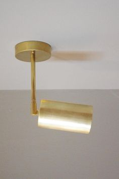 Oxidized Brass Cylinder Drop Spot - Adjustable arm Bullet Light - MidCentury Minimal Wall Light - Overhead Task Light - Can Light Task Lighting, Lighting Design, Bedside Lighting, Pendant Lighting, Country Home Magazine, Houston, Garden Landscape Design, Landscaping Design, Garden Landscaping