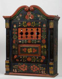 Bútorművesség - Téka (1841) Hand Painted Furniture, Country Furniture, Antique Furniture, Painted Chest, Painted Boxes, Hungarian Embroidery, Russian Folk, Cupboards, Wood And Metal