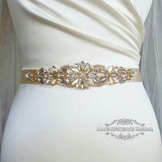 Champagne bridal belt, Rose gold belt, champagne sash, rose gold, rose gold bridal belt, wedding belt, rose gold sash, rhinestone belt, wedding dress belt, diamante belt, Champagne belt, gold bridal belt, bridesmaids belt, golden bridal belt, sash belt