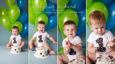 Meghan Rickard Photography: Kennewick Boutique Studio Portrait Photographer :: 1st Birthday : Baby Plan Graduate! cake smash