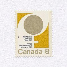 International Woman's Year (8¢). Canada, 1975. Design: Susan McPhee. #mnh #graphilately