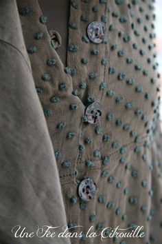french knots & shell buttons
