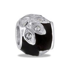 DaVinci Beads Black CZ Flower Jewelry