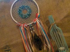 dreamcatcher, peacock feather
