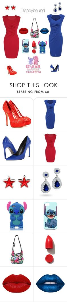 """""""Lilo and Stitch"""" by grumpy-cat-lover ❤ liked on Polyvore featuring Dolce&Gabbana, Stuart Weitzman, Givenchy, Bling Jewelry, Disney, NARS Cosmetics, Winky Lux and Lime Crime"""