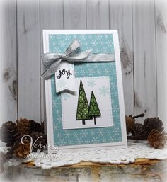 Handmade holiday card by Julee Tilman featuring the Jolly Jingles stamp set from Verve. Fall Cards, Holiday Cards, Christmas Cards, Christmas Ideas, Christmas Scrapbook Layouts, Scrapbook Cards, Winter Christmas, All Things Christmas, Card Tags