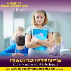 OUCH! We all worry about our child's SELF-ESTEEM. There is plenty you can do to build your child's self-esteem. Past the age of 8y.o., using words won't be so effective any more, so try some new ideas. There are some articles in the blog at our website you might enjoy about this. Good luck  #Dyslexia #Reading #Writing #Improvements