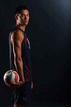 Micah Christenson Photos - Micah Christenson of the USA men's indoor volleyball team poses for a portrait at the American Sports Center on May 2016 in Anaheim, California. Usa Volleyball Team, Volleyball Poses, Volleyball Senior Pictures, Beach Volleyball, Basketball Players, Volleyball Wallpaper, Volleyball Photography, Senior Picture Outfits, Candid Photography
