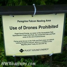 No #drones at #SnoqualmieFalls! #RulesRulesRules #waterfall #drones #sign #travel