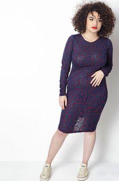 Rebdolls Blue Rush Semi Sheer Dress Modeled by Diana Veras