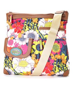 Another great find on #zulily! Floral Garden Christy Large Crossbody Bag by Lily Bloom #zulilyfinds