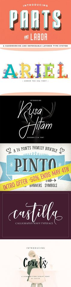 The best new fonts on Creative Market