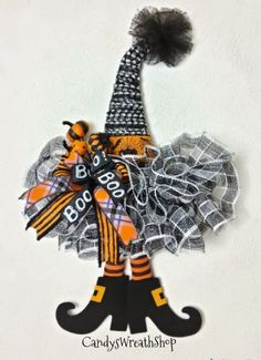 Witch Hat Wreath Witch Hat Halloween Wreath Halloween With witch legs camping, wreaths, bestfriend ideas, halloweenThe post Your place to buy and sell all things handmade appeared first on Dekoration. Halloween Witch Wreath, Halloween Ribbon, Halloween Door Decorations, Halloween Witches, Halloween Fabric Crafts, Halloween Camping, Spooky Spooky, Christmas Mesh Wreaths, Deco Mesh Wreaths
