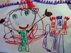 A picture made by Julia, 4 years old • Art My Kid Made Artist of the day on Dec. 25, 2012. #kidart