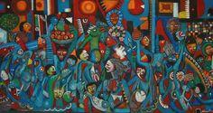 MALANGATANA, Valente Ngwenya (1936-2011) :JEUNESSE ET PAIX, 1997 :THE UNESCO WORKS OF ART COLLECTION