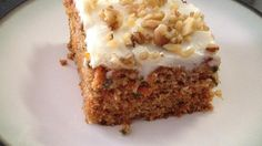 Everyone tells me this is the best carrot cake ever! Frost with your favorite Cream Cheese Frosting.