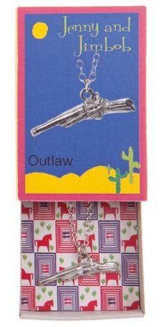 Outlaw - Gun necklace by jennyandjimbob.com