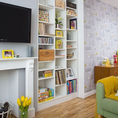 Retro living room | Living room decorating | Style at Home | Housetohome.co.uk