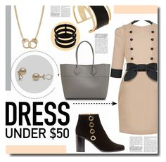 """""""Dress under $50"""" by kts-desilva ❤ liked on Polyvore featuring Rachel Zoe, Chloé, Sugar NY, Rebecca Minkoff, Repossi and Dressunder50"""