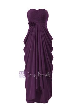 ed27b2416caa Floor Length Chiffon Bridesmaid Dress Sweetheart Formal Dress  Byzantium(BM332L)