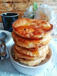 Waffles, Pancakes, Italian Cake, Creative Food, Crepes, Biscotti, Sweet Recipes, Delicious Desserts, Good Food